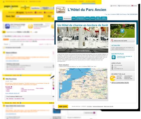 pages jaunes et la réservation de chambres d'hôtel sur internet