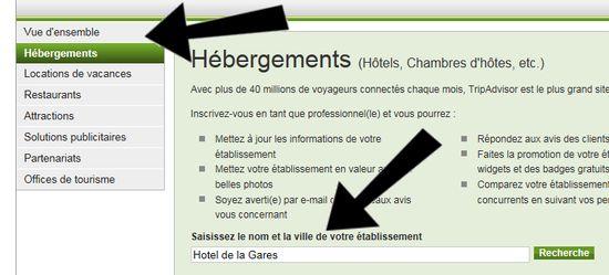 Recherchez votre hôtel sur tripadvisor