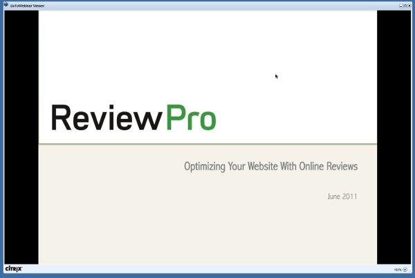 webinar reviewpro josiah mackenzie