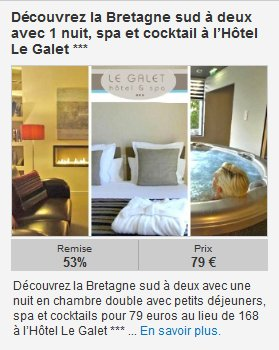 Email offre hotel groupon