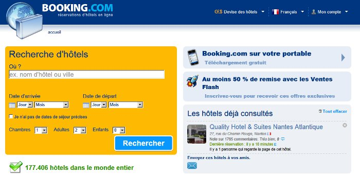 moteur de reservation performant booking