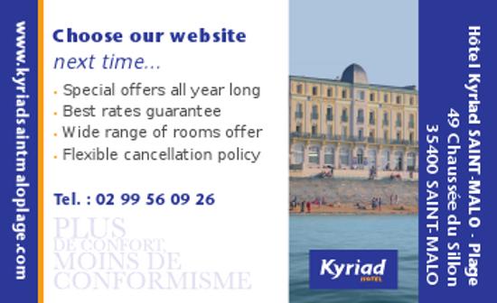 Offre spéciale hotel a Saint Malo