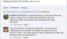 La haine sur la page Facebook
