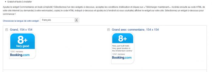 Pourquoi il ne faut surtout pas utiliser le widget commentaires de Booking.com