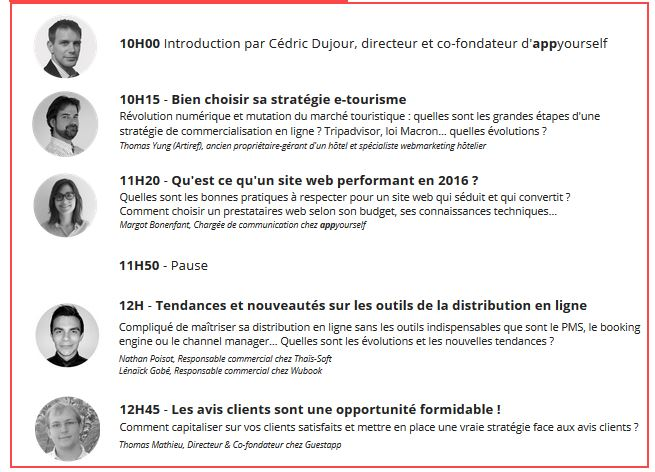 Digital day Hôtellerie Nantes - le programme