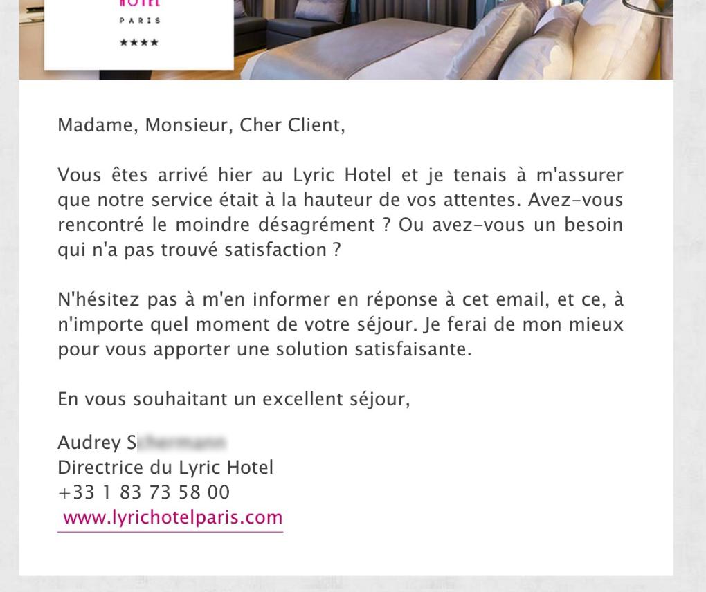 Et si on remettait le client au centre artiref - Reserver une chambre d hotel pour une apres midi ...